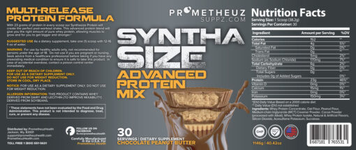 SYNTHA SIZE – Chocolate Peanut Butter